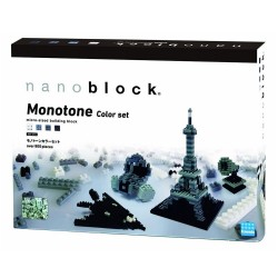 Nanoblock :: Monochrome Color Set