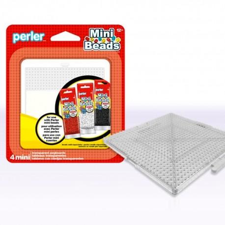 Perler Beads :: Paq. 4 Bases Cuadradas p/ MINI (2.6mm)