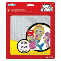 Perler Beads :: Paq. 2 Bases Cuadradas para MINI 2.6mm - 16 cms (58 x 58 clavijas)