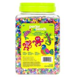 Perler Beads :: Cubeta c/22,000 MIDI (5mm) - Mix 30 colores