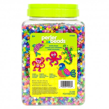 Perler Beads :: Cubeta c/22,000 MIDI (5mm) - Mix 30 colores