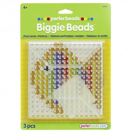 Perler Beads :: Paquete 2 Bases Biggie Beads (MAXI 10mm)