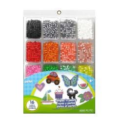 Perler Beads :: Estuche c/4000 Beads Rayadas y Aperladas