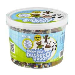 Perler Beads :: Cubeta Teddy Bear / Osito Teddy